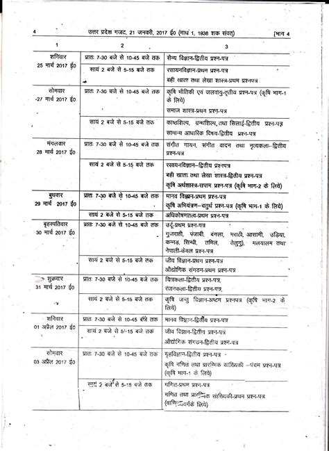 a for all time 2018 up board 12th time table 2018 up intermediate