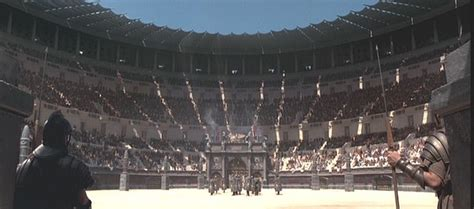 Gladiator Film Arena | this is a screenshot of the movie gladiator depicting what