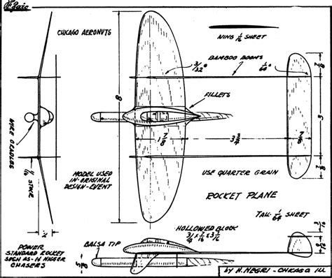 balsa plane plans blueprints  diy