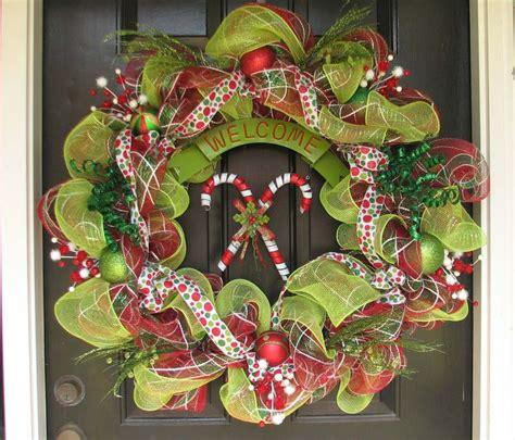 Artificial Wreaths For Front Door Mesh Wreath For Front Door