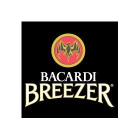 bacardi logo white bacardi breezer promotional 4 pack bottle pink neoprene