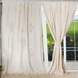 Country Living Curtains Aliexpress Buy Tab Top Country Cotton Linen Crochet Lace Curtain Panel Drape For
