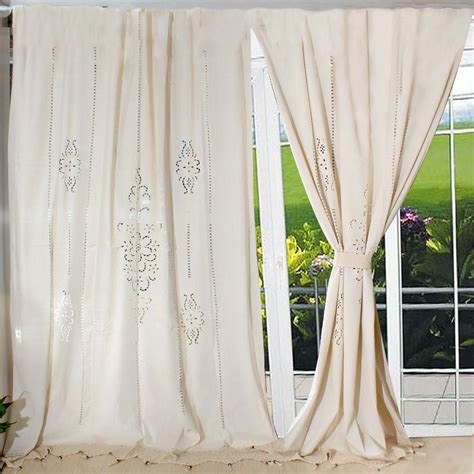 french country lace curtains aliexpress com buy tab top french country cotton linen