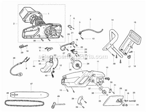 poulan pp300e parts list and diagram ereplacementparts