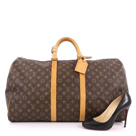 Would You Buy A Vuitton From This by Buy Louis Vuitton Keepall Bag Monogram Canvas 55 Brown