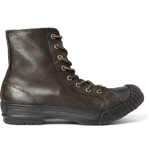 converse boots lyst converse bosey chuck all leather boots