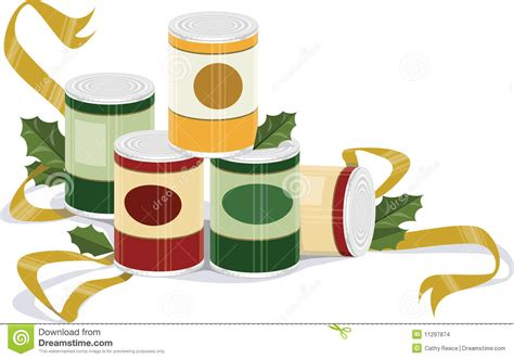 holiday canned goods stock vector image of cylinder