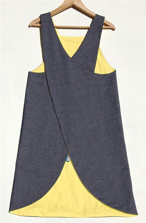 crossover back apron pattern denim waterproof crossover back japanese apron by zutusine
