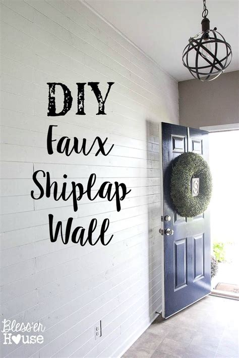 Dining Room Makeovers On A Budget by Diy Faux Shiplap Wall