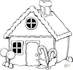Gingerbread House Coloring Page Free Printable Pages sketch template