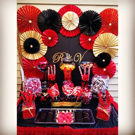 black and gold buffet ls black red and gold candy candy dessert buffet