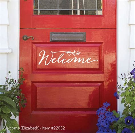 Welcome Sign For Front Door New Front Door Welcome Sign Expressions Available Uppercase Living Independent Demonstrator