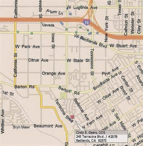map of redlands california redlands dentist dental practice in redlands ca
