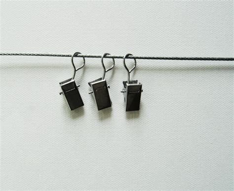 Photo Hanging Clips | hanging photo display 30 off metal cord 8 clips by