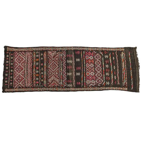 Black Runner Rugs by Moroccan Tuareg Vintage Black Runner Rug For Sale At 1stdibs