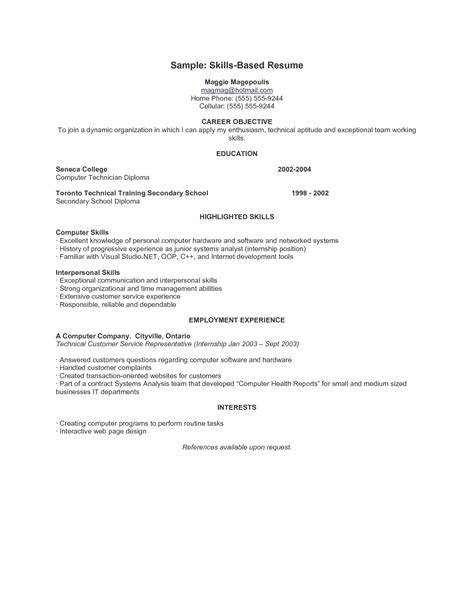 Sle Resume With Skills Listed by Skill For Resume Resume Cv Cover Letter