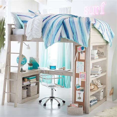sleep and study loft bed loft beds with desk in 20 chic girls bedroom home design