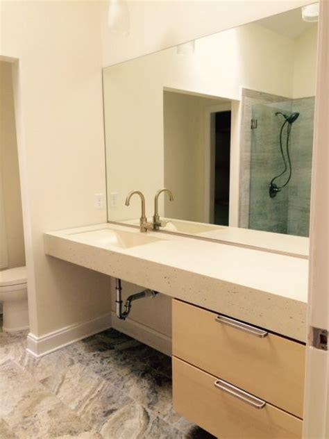 custom made bathroom sinks crafted concrete trough bathroom sink by crump and