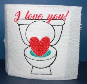 design love fest toilet paper toilet paper single design tp no 155 machine embroidery