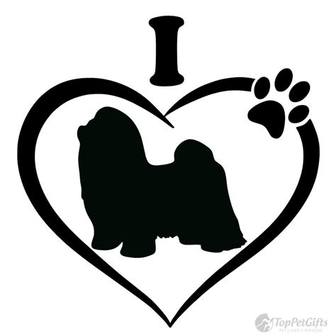i my shih tzu i my shih tzu decal top pet gifts
