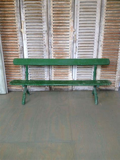 green park bench green painted french park bench for sale at 1stdibs