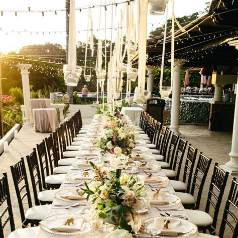 Creative Ideas For Ls by Ideas For Outdoor Wedding Reception Tables Popsugar Home