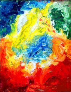 Lukisan Digital Abstrak 6 fractal abstract rising by mranganath mandala
