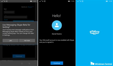 skype for mobil unified messaging skype beta for windows 10 mobile finally