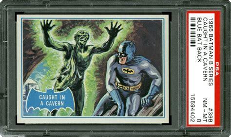 batman cards 1966 batman b series blue bat in a cavern psa