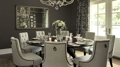 Chandelier Bedding Set Gray Dining Room Transitional Dining Room Vallone Design