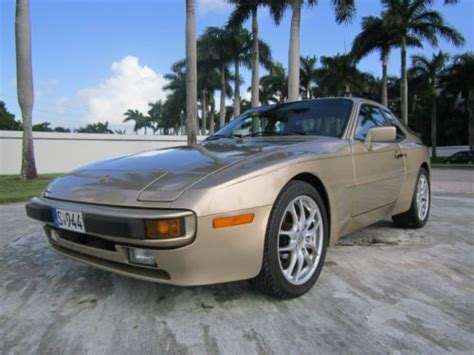 porsche 944 gold purchase used very clean 1987 gold porsche 944 in united