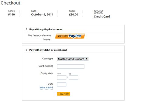 paypal payment page template new paypal integration in now sell easily