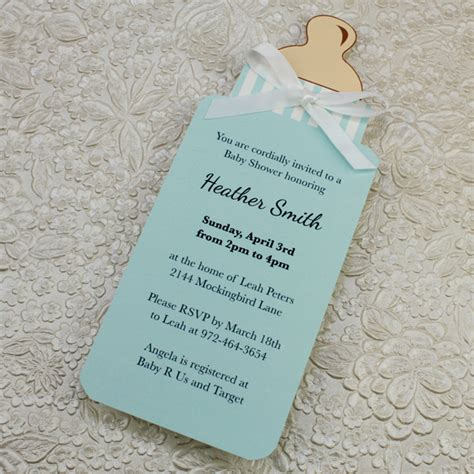 baby invitation template baby bottle boy shower invitation template print