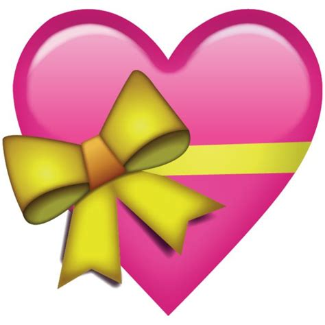 emoji heart download pink heart with ribbon emoji png you d give that