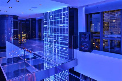 miami penthouse mancave gameroom led wall panels