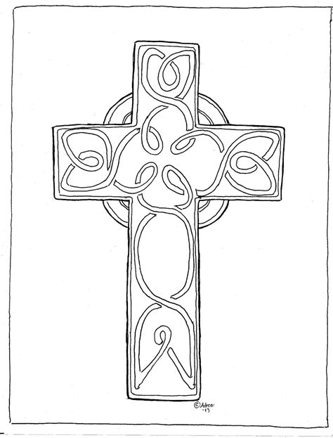 printable coloring pages cross coloring pages for by mr adron print and color