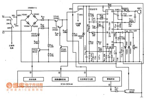 simple diagram of integrated circuit tea1061 calling integrated circuit diagram basic circuit circuit diagram seekic