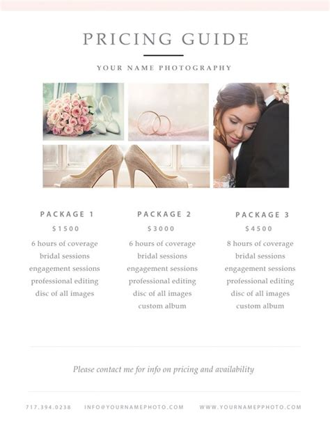 Photography Packages by 25 Best Ideas About Photography Contract On