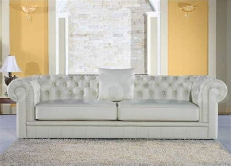 4 seater white leather sofa york chesterfield white leather 4 seater sofa