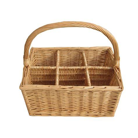 baskets for buy 6 bottle wicker wine carrier basket from the