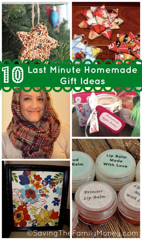 10 last minute homemade gift ideas saving the family money