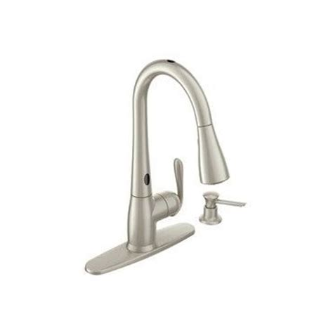 moen haysfield kitchen faucet moen haysfield 87350esrs pulldown kitchen faucet with motionsense spot resistant stainless