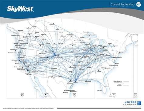 united route map skywest airlines world airline news