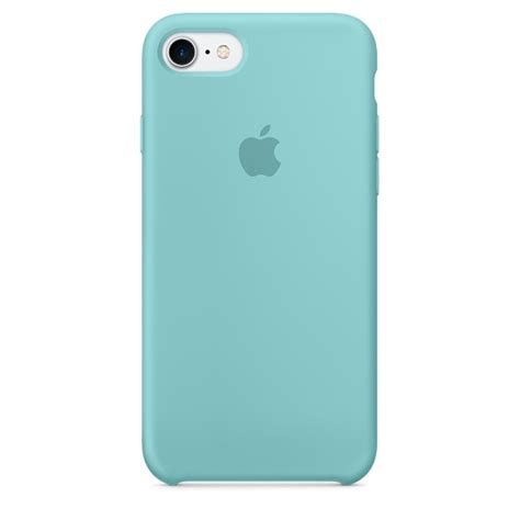 iphone 7 case iphone 7 silicone case sea blue apple