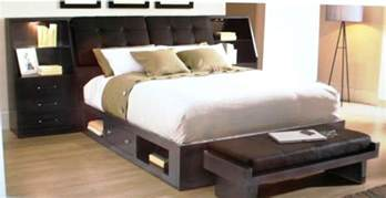 Size Platform Bed With Storage Espresso Size Platform Bed With Storage Underneath