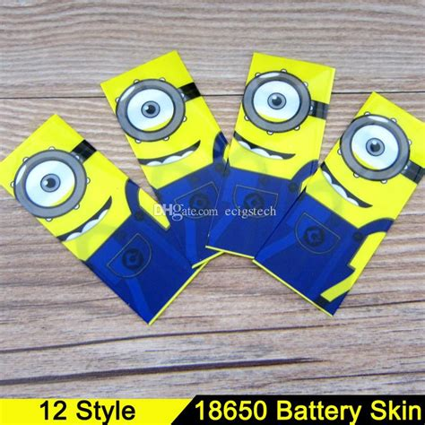 Wrap Baterry 18650 Minion 18650 battery sleeve skin pvc heat shrinkable tubing wrap