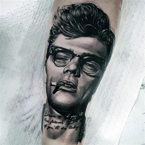 james dean tattoo 40 dean designs for american actor ink