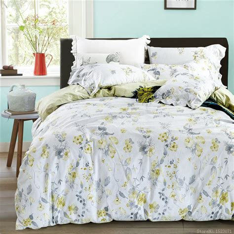 affordable linen sheets get cheap yellow floral bedding aliexpress alibaba