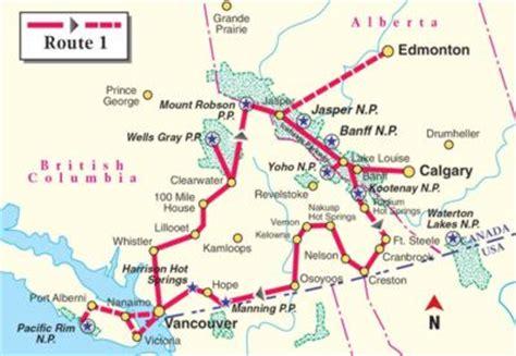 Ab Wann Kann Man Im Frühjahr Motorradfahren by Kanada Wohnmobile Routenvorschlag 1 West Kanada
