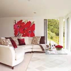 Red Home Decor Accents by Neutral Wall Color With Red Accent Trend Home Design And